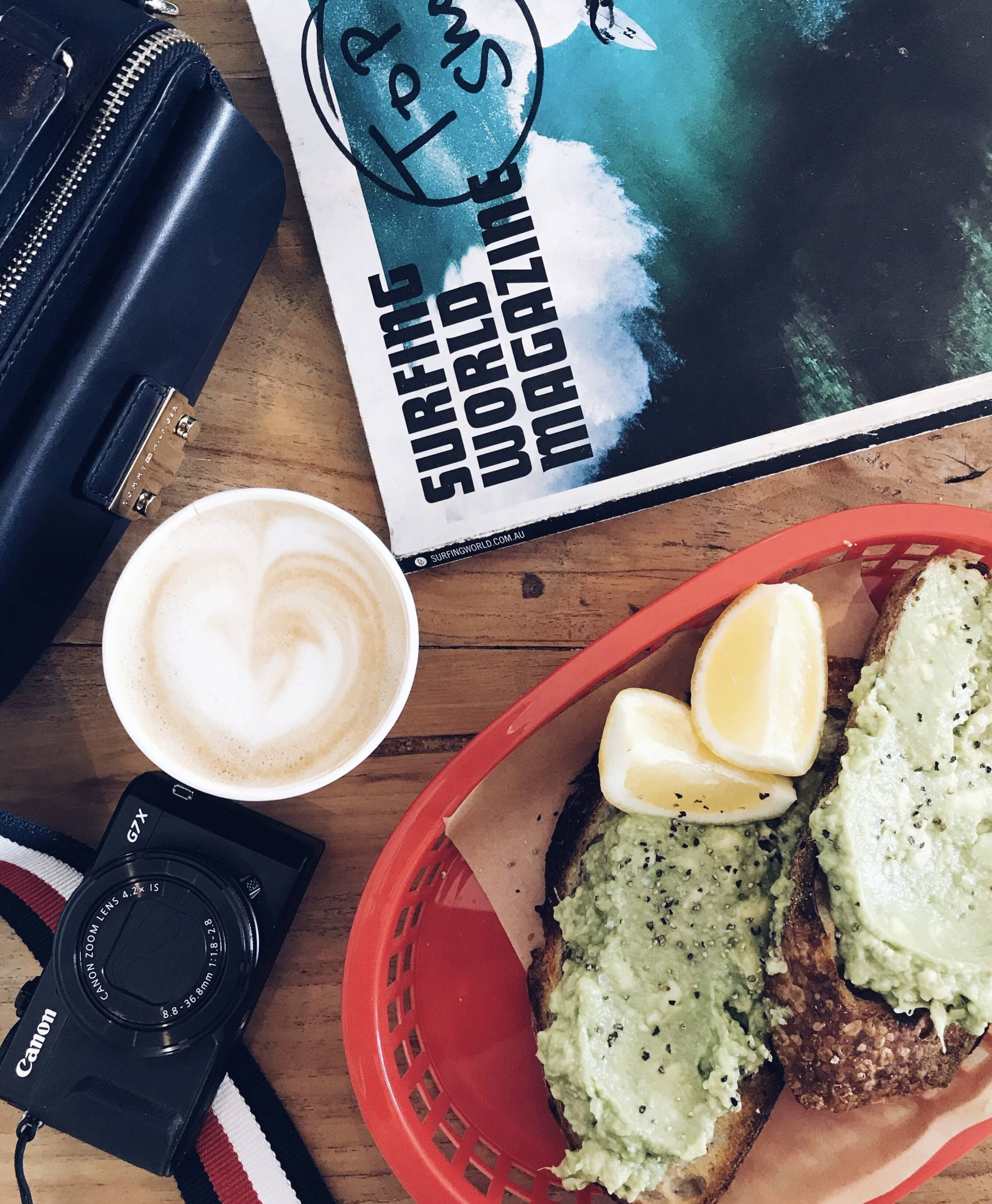 Avo Toast @ The Top Shop, Byron BAy